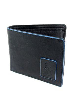 GAZ Leren heren Bilfold RFID blocking portemonnee zwart