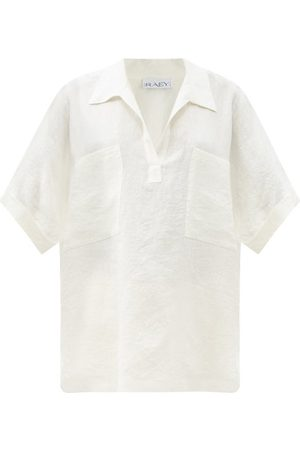 Raey Dames Shirts - Patch-pocket Linen Smock Top - Womens - Ivory