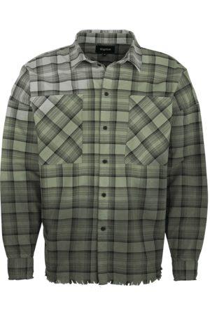 Tigha Heren Overhemd Raphael zwart (black/mosstone/concrete grey)