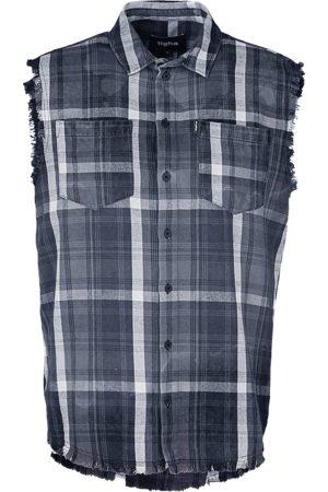 Tigha Heren Overhemden - Heren Overhemd Mareno zwart (black/stone grey)