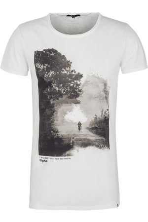 Tigha Heren Shirts - Heren afdrukbaar hemd Easy Rider Wren wit (white)
