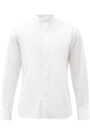 Sébline Eton Stand-collar Cotton-poplin Shirt - Mens - White