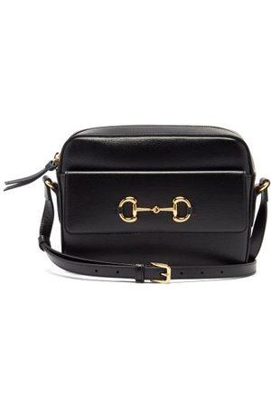 Gucci Dames Schoudertassen - 1955 Horsebit Leather Cross-body Bag - Womens - Black