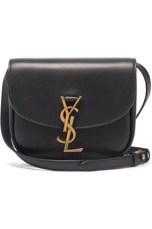 Saint Laurent Dames Schoudertassen - Kaia Small Ysl-plaque Leather Cross-body Bag - Womens - Black