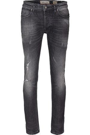 Tigha Heren Slim - Heren Jeans Morten 99102 destroyed grijs (mid grey)