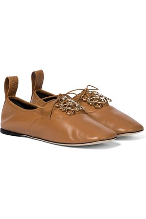 Loewe Anagram leather Derby shoes