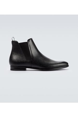 Prada Saffiano leather ankle boots