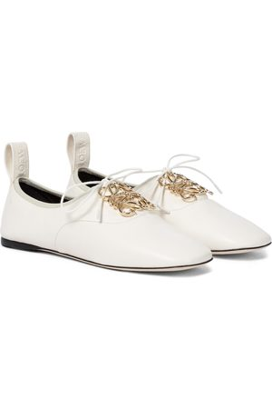 Loewe Dames Ballerina's - Anagram leather derby shoes