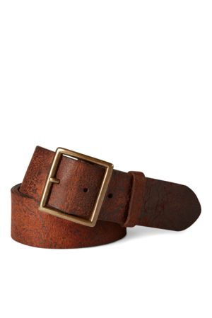 RRL Distressed Leather Belt