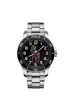 Polo Ralph Lauren Polo Watch Black Dial Steel Bracelet