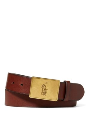 Polo Ralph Lauren Pony Plaque Leather Belt