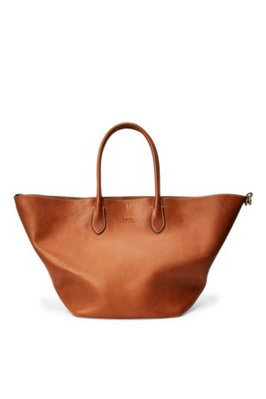 Polo Ralph Lauren Leather Large Bellport Tote