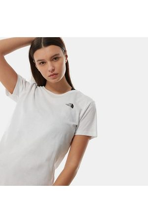The North Face Dames Shirts - The North Face Simple Dome-t-shirt Voor Dames Tnf White Größe 3XL Dame