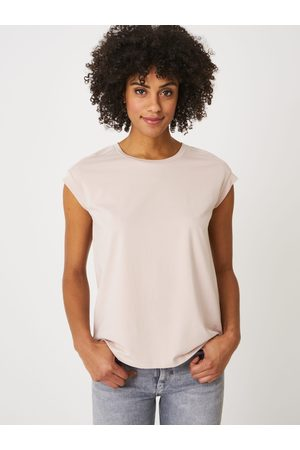 Repeat Dames Tanktops - Mouwloze stretch top met ronde halslijn