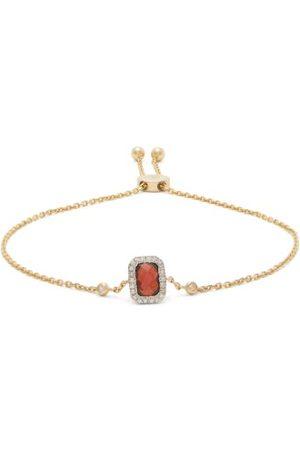 Anissa Kermiche January Diamond, Garnet & Gold Chain Bracelet - Womens - Red