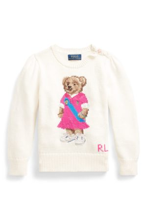 GIRLS 1.5-6.5 YEARS Polo Bear Cotton Jumper