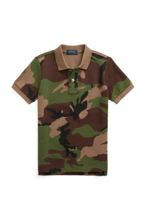 BOYS 1.5-6 YEARS Camo Cotton Mesh Polo Shirt