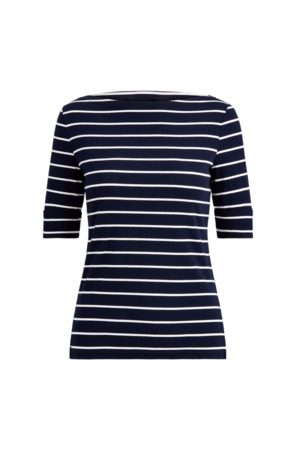 Lauren by Ralph Lauren Striped Boatneck Top