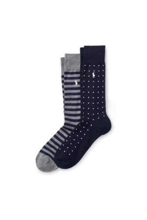 Polo Ralph Lauren Dot Stripe Sock 2-Pack