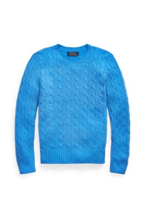 BOYS 6-14 YEARS Cable-Knit Cashmere Jumper