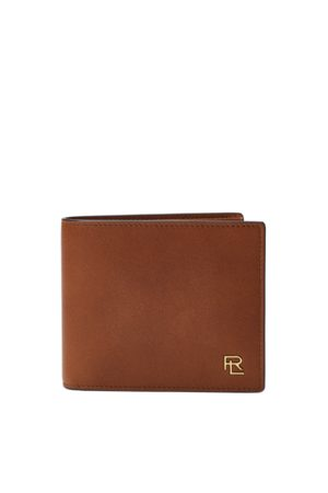 Ralph Lauren Metal-Plaque Leather Billfold