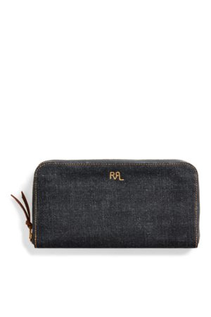 RRL Indigo Denim Travel Wallet