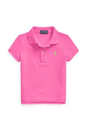 GIRLS 1.5-6.5 YEARS Cotton Mesh Polo Shirt