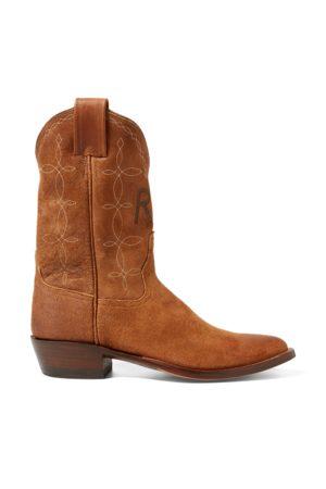 RRL Plainview Suede Cowboy Boot