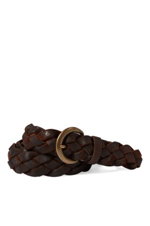 RRL Hand-Braided Leather Belt