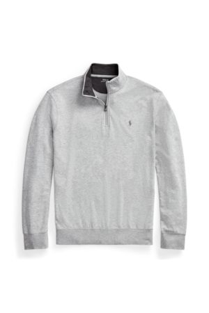 Big & Tall Luxury Jersey Quarter-Zip Pullover