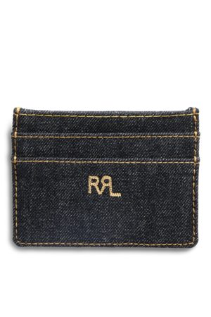 RRL Indigo Denim Card Holder