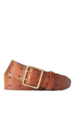 RRL Tumbled Leather Belt