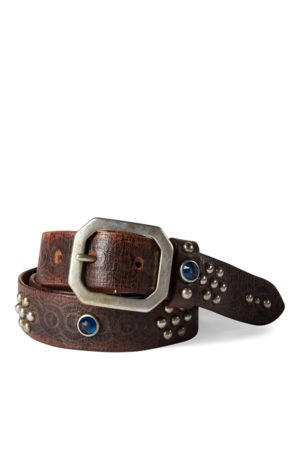 RRL Heren Riemen - Rasco Studded Leather Belt