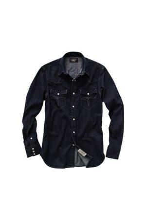 RRL Slim Fit Denim Western Shirt