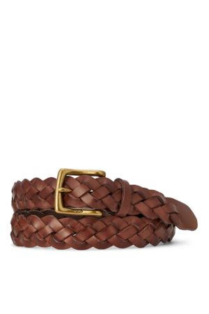 Polo Ralph Lauren Braided Calfskin Belt
