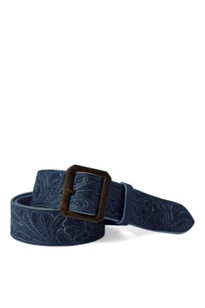 RRL Hand-Tooled Leather Belt