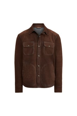 Polo Ralph Lauren Nubuck Leather Shirt Jacket