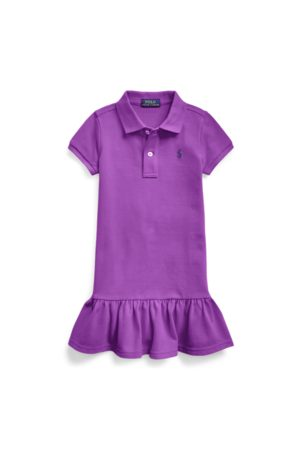 GIRLS 1.5-6.5 YEARS Cotton Mesh Polo Dress