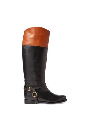 Ralph Lauren Sade Burnished Calfskin Boot
