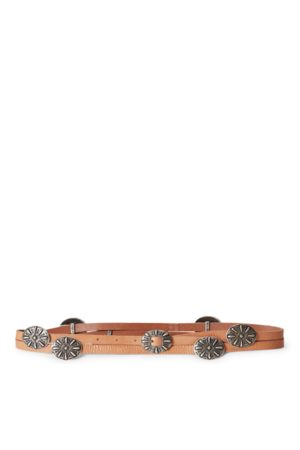 Polo Ralph Lauren Concho Leather Wrap Belt