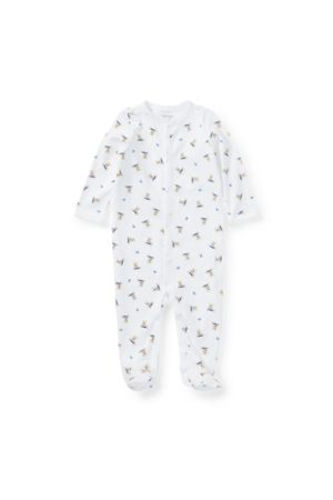 Baby Boy Polo Bear Cotton Coverall