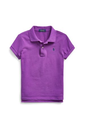 GIRLS 7-14 YEARS Cotton Mesh Polo Shirt