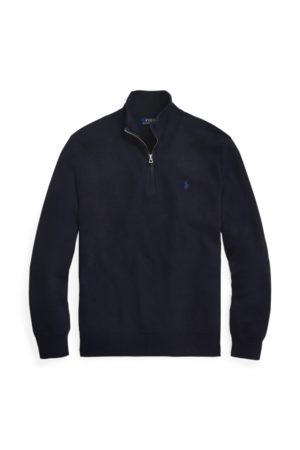 Polo Ralph Lauren Cotton Mesh Quarter-Zip Jumper