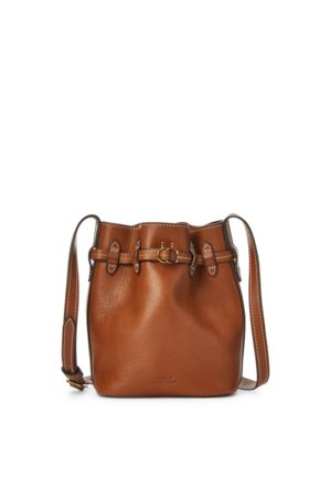 Polo Ralph Lauren Leather Mini Drawstring Bag