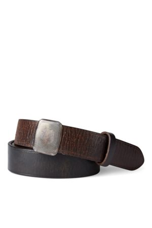RRL Vincennes Leather Belt