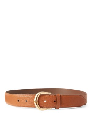 Lauren by Ralph Lauren Pebbled Leather Belt