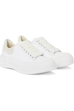 Alexander McQueen Deck Plimsoll canvas sneakers