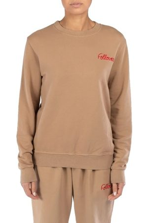 Follovers Dames Kourtney Crewneck Camel