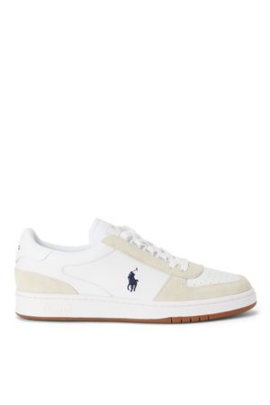 Polo Ralph Lauren Court Leather & Suede Trainer
