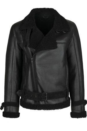 Tigha Heren Lamsveltjas Lennox shearling pull up 214 zwart (black)